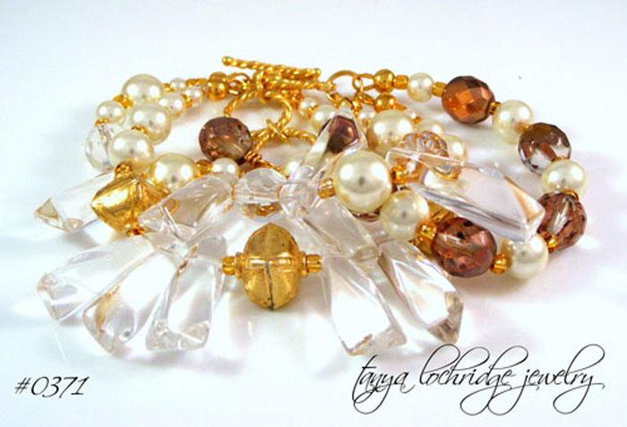 Crystal Quartz Gold Vermeil Bracelet