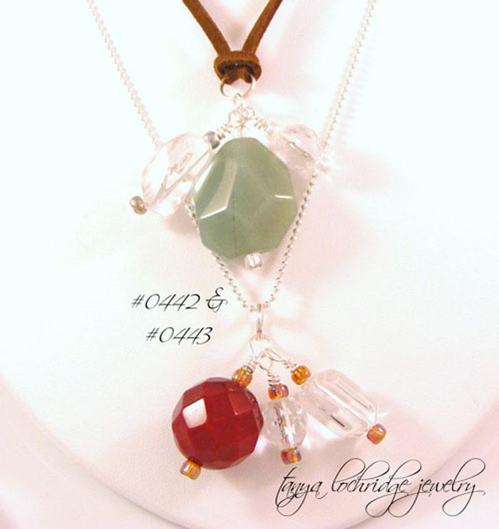 Green Aventurine & Crystal Quartz Gemstone Pendant/Charm