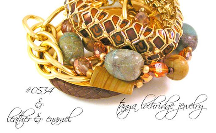 Chrysocolla & Rainbow Hickoryite Bracelet