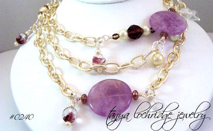 "Cape Amethyst Gemstone 52"" Necklace"