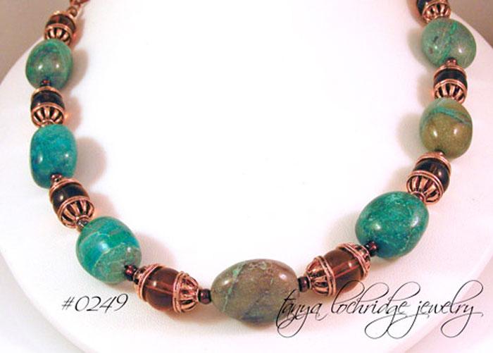 Chrysocolla Vintage-Style Gemstone  Necklace