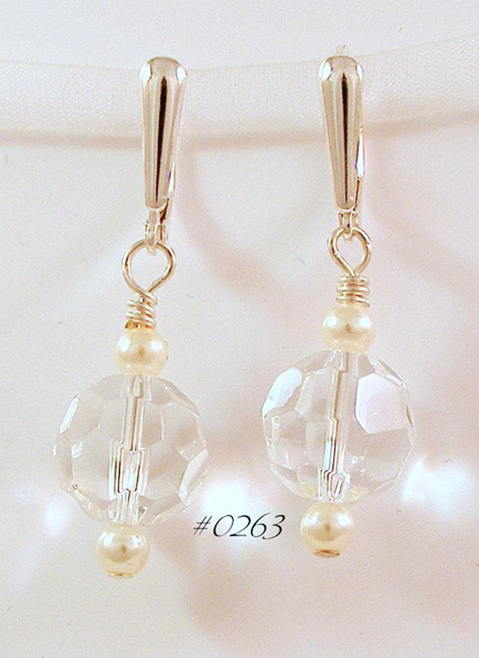 Ivory Pearl & Crystal Drop Earrings