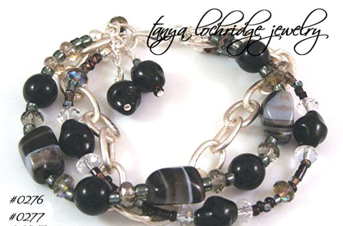 Black Sardonyx Gemstone Bracelet