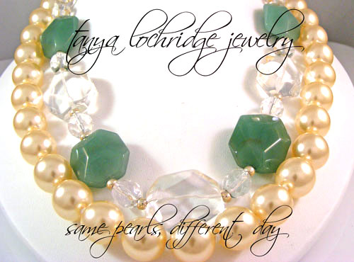 Green Aventurine & Crystal Quartz Gemstone Necklace