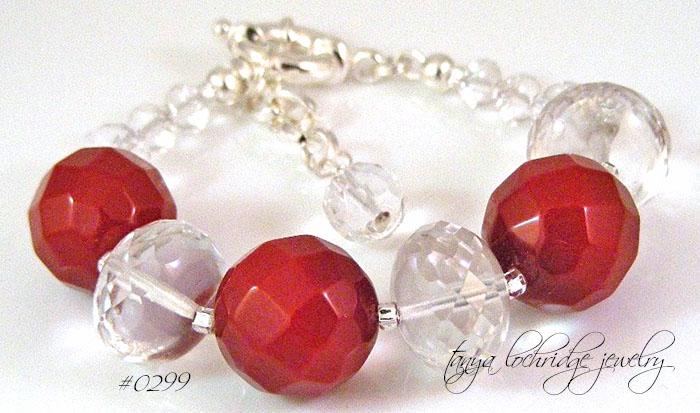 Carnelian Gemstone Gobstopper Bracelet