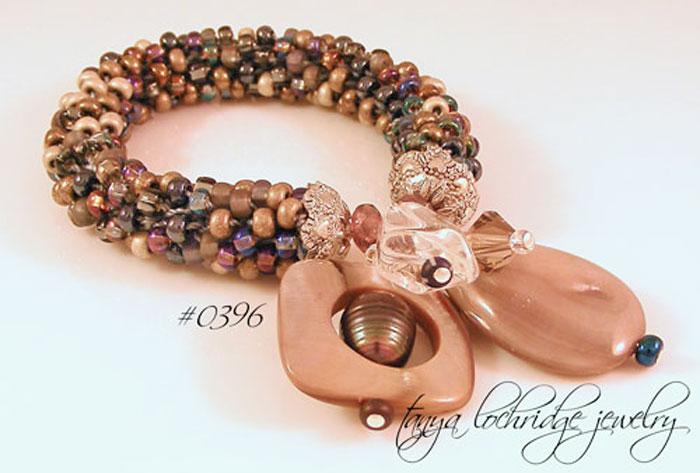 Mother-of-Pearl, Crystal Quartz Gemstone, Swarovski Crystal Bead Bracelet