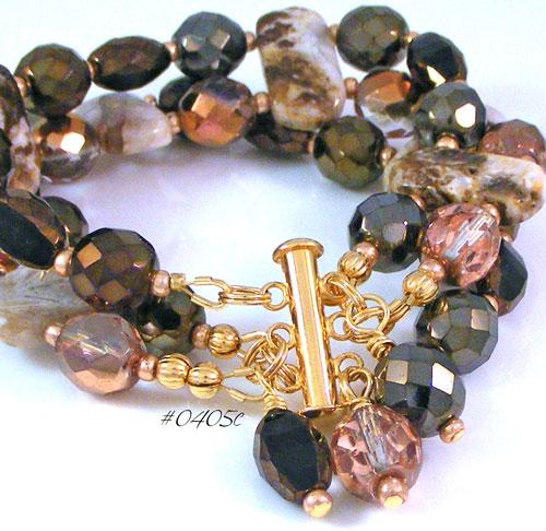 Brioche Agate Gemstone Cuff-Style Bracelet