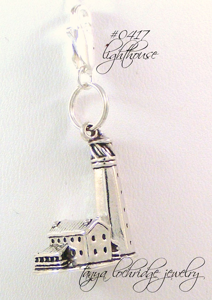 Lighthouse Sterling Silver Charm