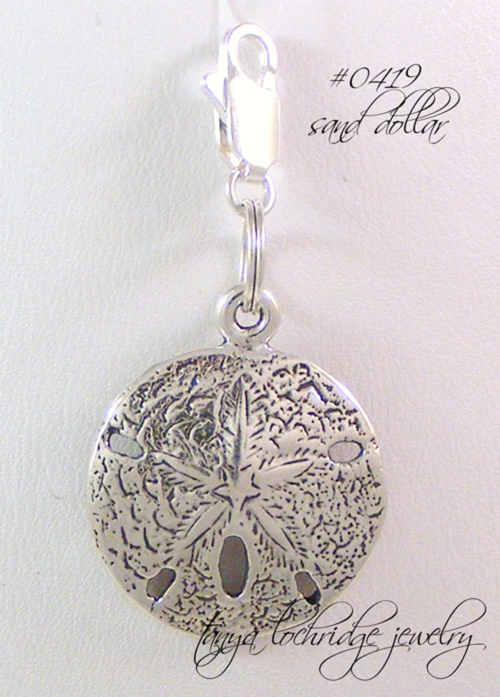 Sand Dollar Sterling Silver Charm