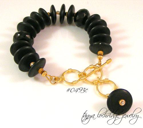 Onyx Gemstone & Gold Vermeil Bracelet