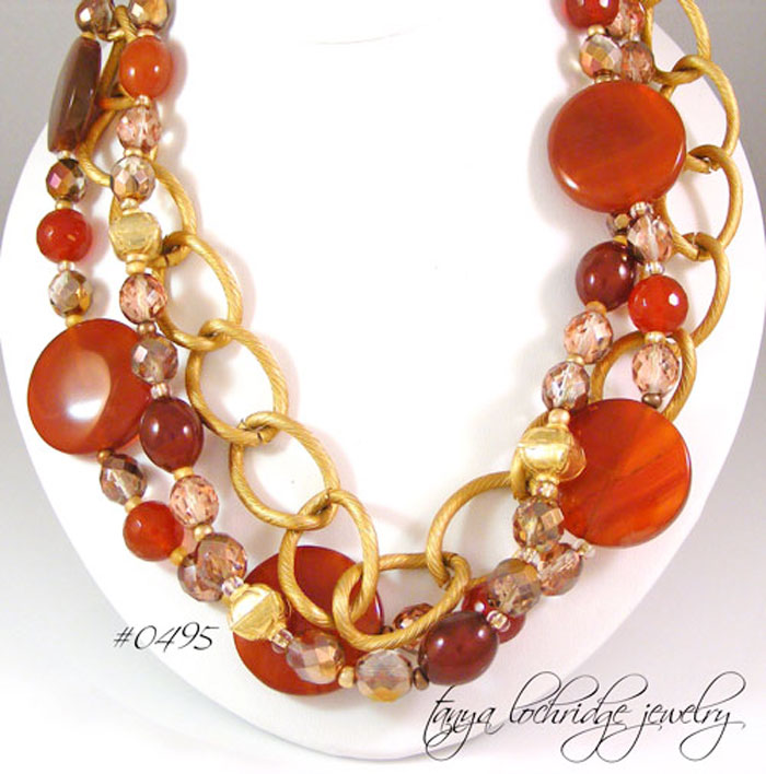 Carnelian Gemstone & Gold Vermeil Necklace