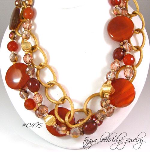 Tanya Lochridge Jewelry Carnelian Amp Gold Vermeil Necklace