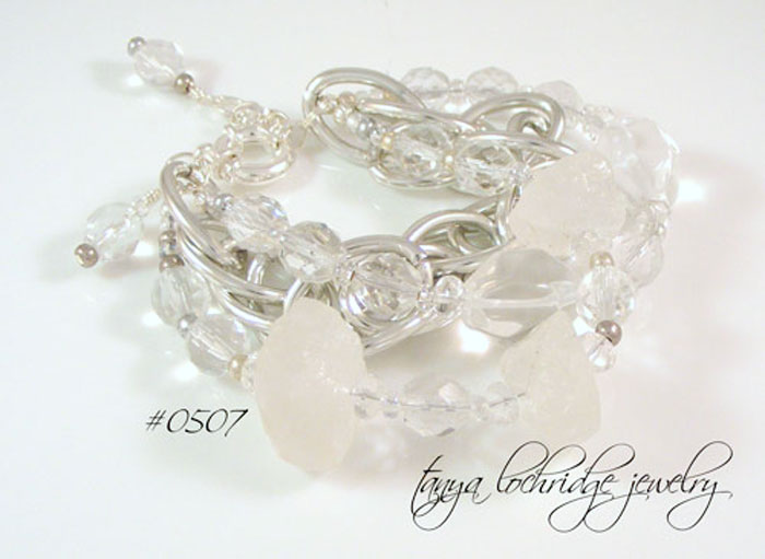 Crystal Quartz Rough & Polished Gemstone Bracelet
