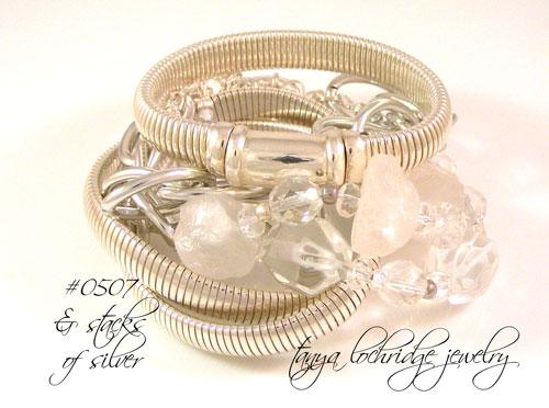 Crystal Quartz Rough & Polished Gemstone Bracelet