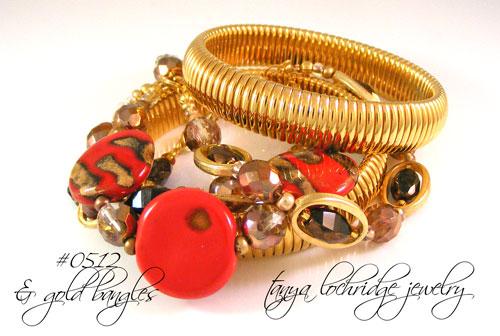 "Kazuri Bead Red ""Three's the Charm"" Bracelet"