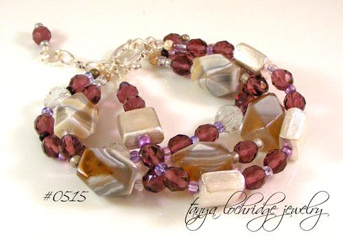 Tanya Lochridge Jewelry Purple Banded Agate Amp Czech Glass