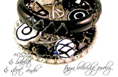 Kazuri Bead Black & White Collection Multi-Strand Bracelet