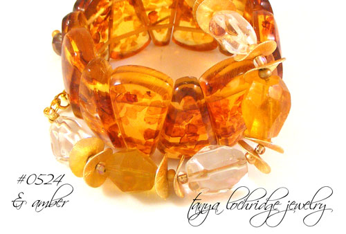 Yellow Calcite & Crystal Quartz Bracelet