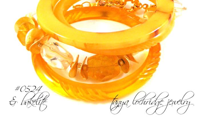 Yellow Calcite & Crystal Quartz Bracelet