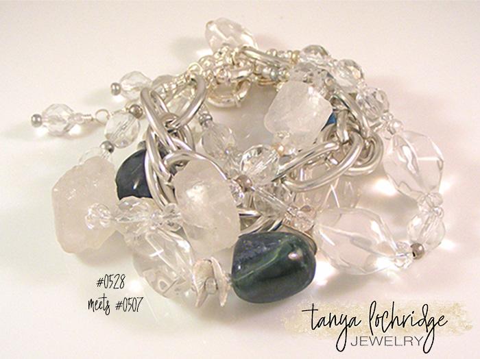 Fluorite & Crystal Quartz Potato Chip Bracelet