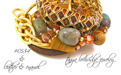 Chrysocolla & Rainbow Hickoryite Bead Bracelet