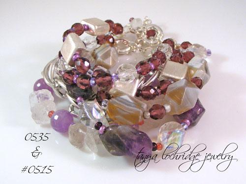 Amethyst & Crystal Quartz Bracelet