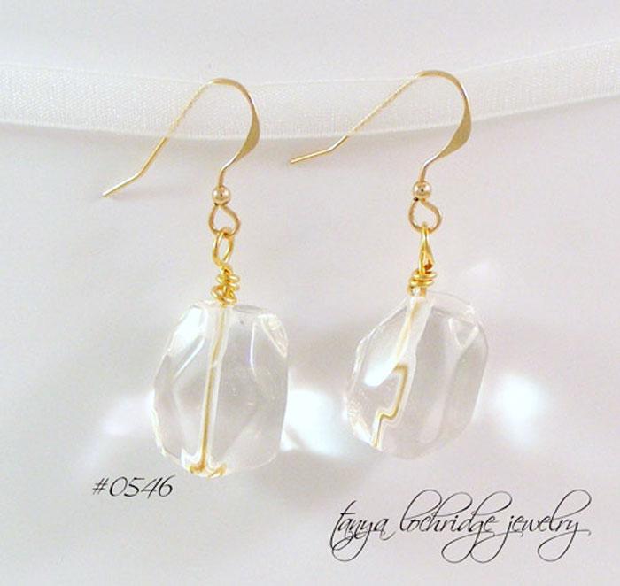 Crystal Quartz Gemstone Drop Earrings
