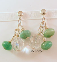 Amazonite Gemstone & Swarovski Sterling Silver Drop Earrings