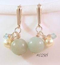 Amazonite & Pearl Earrings