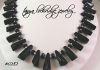 Black Crystal Quartz Collar Necklace