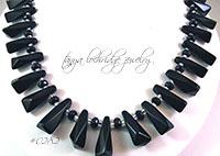 Crystal Quartz Black Collar Necklace