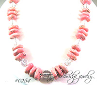 Rhodochrosite Sterling Silver Necklace