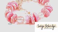 Rhodochrosite Gemstone Bead Bracelet