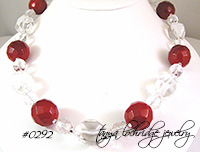 Carnelian & Crystal Quartz Gemstone Necklace