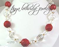 Carnelian & Crystal Quartz Gemstone Necklace