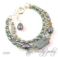 Labradorite & Baroque Pearl Bracelet