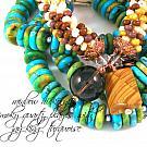 Rainbow Hickoryite & Smoky Quartz Gemstone Bangle Bracelet
