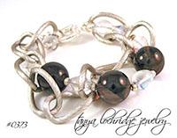Smoky Quartz Gemstone Gumball Bead Bracelet