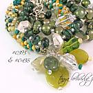 Colors of Jade & Prehnite Gemstone Bangle Bracelet