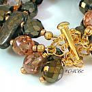 Bronzite Gemstone Cuff Style Bracelet