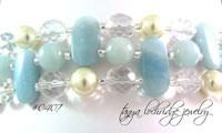 Amazonite Gemstone Cuff Style Bracelet