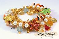 Starfish & Natural Shell Charm Bracelet