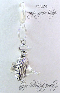 Magic Genie Lamp Sterling Silver Charm