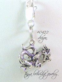 Magic Dragon Sterling Silver Charm