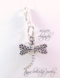 Dragonfly Sterling Silver Charm