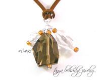 Quartz, Smoky & Clear, Gemstone Pendant