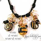 Kazuri Bead Black & Gold Charm