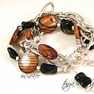 Brown & Black Mother-of-Pearl Bracelet