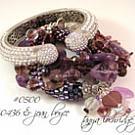 Vintage Hearts Charm Stackable Bangle Bracelet
