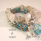 Crystal Quartz Gemstone & Florentine Finish Bracelet